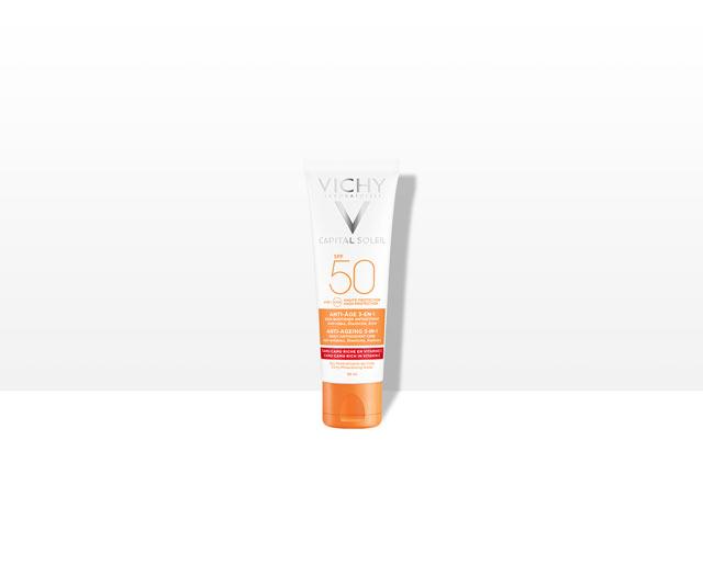Anti-Age 3-i-1 solkrem SPF50