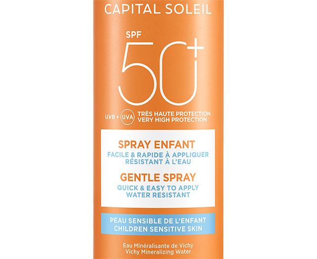 Skånsom Solspray til barn SPF 50+
